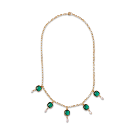 Montserrat New York The Alicante Choker Necklace - Emerald Green