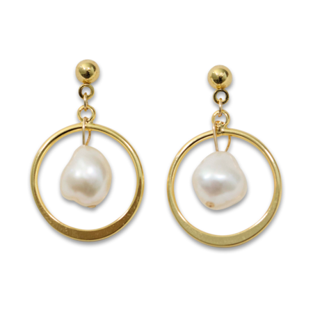 Montserrat New York The Girona Earrings - gold plated/pearl