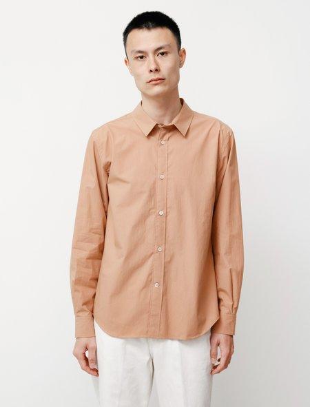 Niuhans Typerwriter Cotton Vintage Wash Shirt - Beige Pink