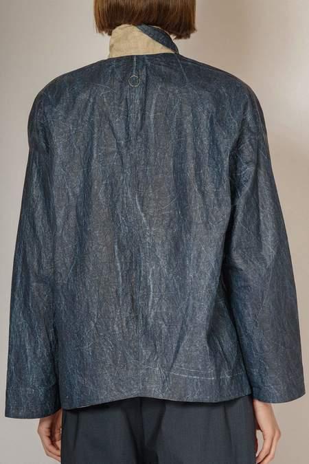 Oyuna Cala Woven Reversible Rain Jacket - Ink/Sandstone