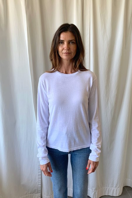 RE/DONE Long Sleeve Tee - white