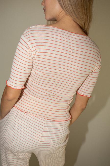 Baserange Pama 3/4 Tee - Red/White Stripe