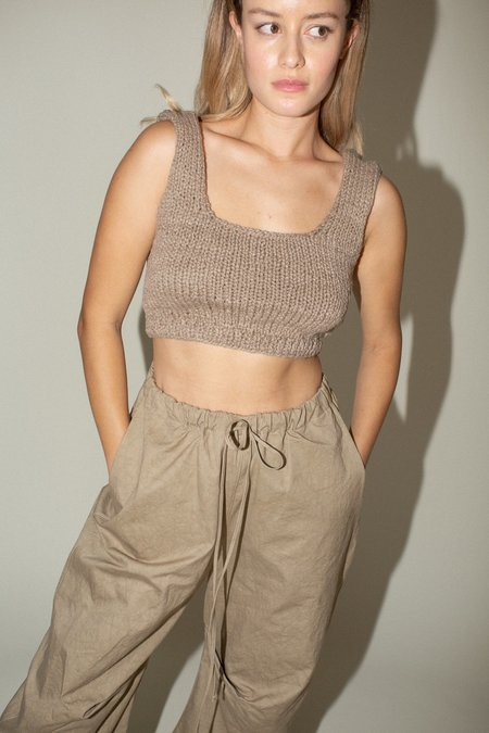 Lauren Manoogian Handknit Bralette - Sepia