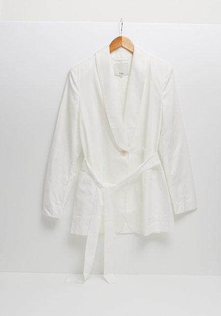 Tibi Leisure Tuxedo Blazer - White