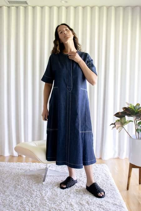 Odeeh Denim Dress - Blue
