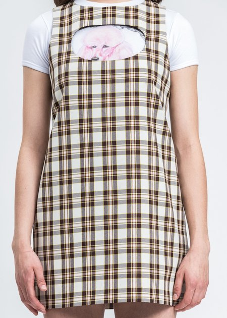 Ashley Williams Liv Dress - Beige Recycle Check