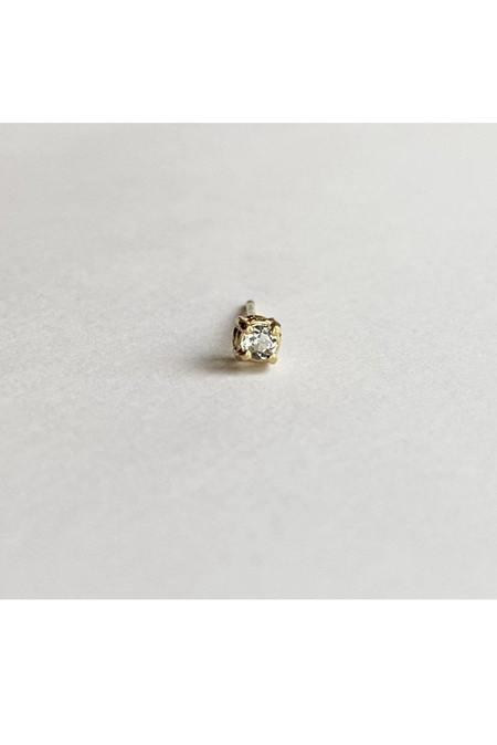 Trois Petits Points Solitaire Aquamarine Earrings - 18kt Gold