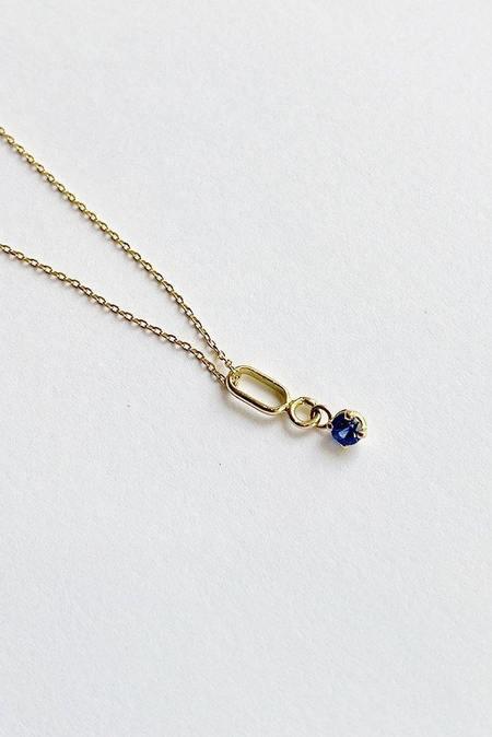 Trois Petits Points Constellation Necklace - 18kt Gold/Blue Sapphire