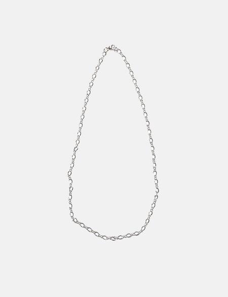 Maple Figure Eight Neclace Chain - Silver 925