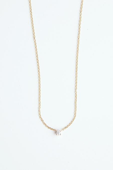 Hortense Tiny diamond Necklace - 14KT gold
