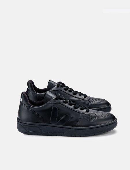 Veja V-10 CWL Trainers - Black/Black