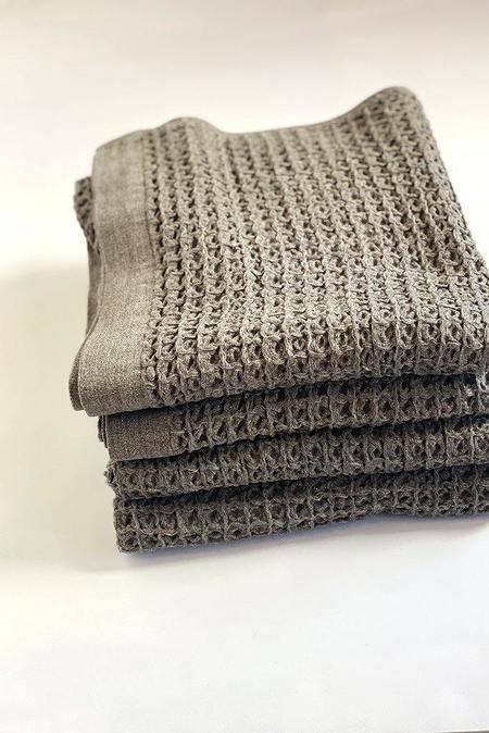 Morihata Lattice Compact Bath Towel - Brown
