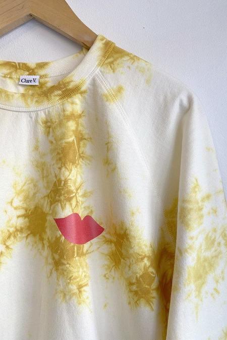 Clare V. Lips Sweatshirt - Marigold  Tie Dye
