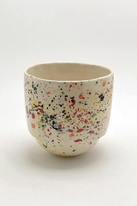 A.Cheng  Round Bottom Splatter Planter - white