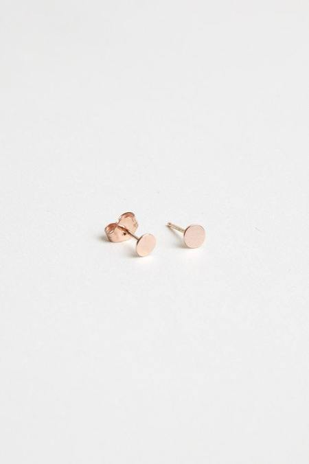 Hortense Small Moon Studs PAIR - Rose Gold