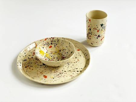 A.Cheng Splatter Dinner Set - Multi