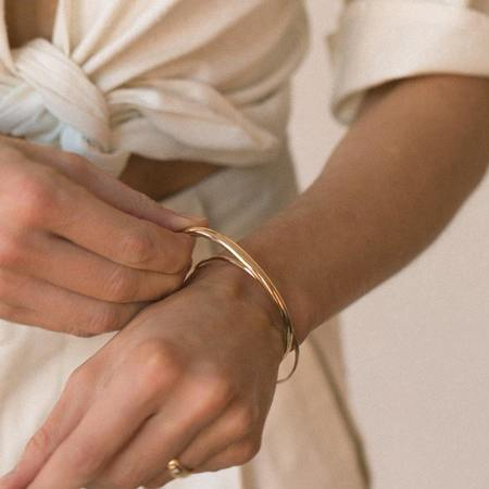 Leah Alexandra Syd Grand Cuff - Gold Filled