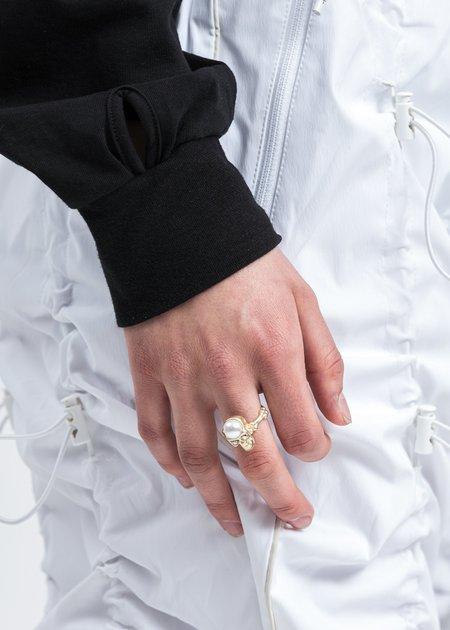 EVAE Skull Ring - Pearl