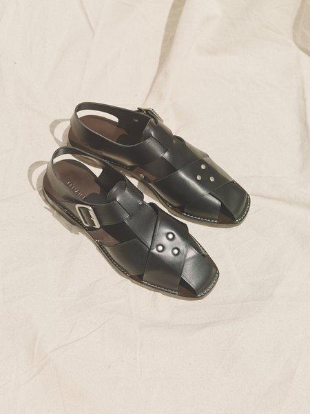 Lemaire Calf Leather Strap Sandals - Black