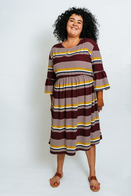 Altar Houseline Aurelia Dress - Saffron Stripe