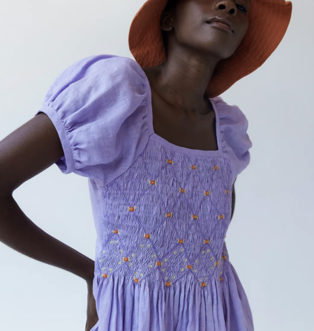 Tach Clothing Juani Linen Dress - Lilac