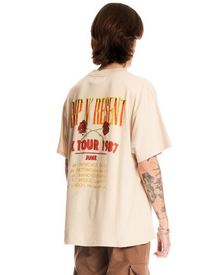 Represent Vintage Rep N Resent T-Shirt - Cream