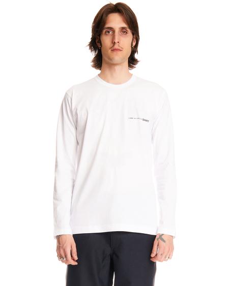 Comme des Garçons L/S Logo T-shirt - White