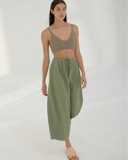 Mónica Cordera Maxi Ramie Pants - Sage Green