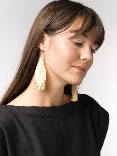 LAUDE the Label Steps Beaded Earrings - Ivory