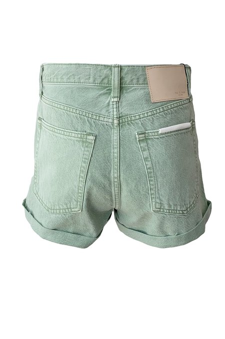 Rag & Bone Maya High Rise Shorty Short - Seafoam Green