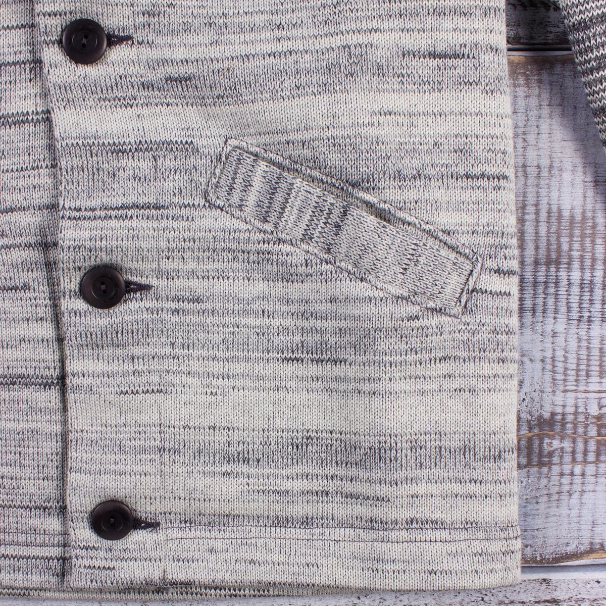 559d9f5c108d Dehen 1920 Sweater Jacket - Off White Charcoal