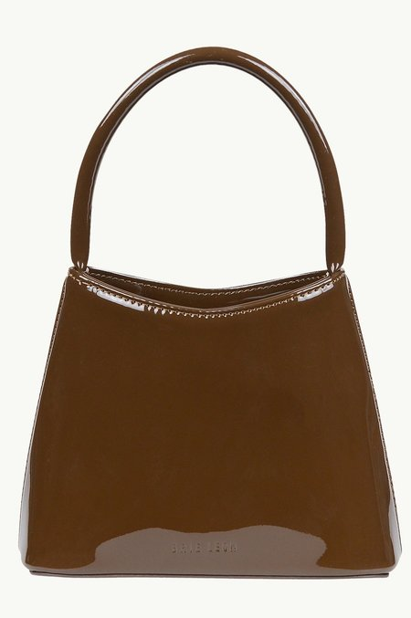 BRIE LEON The Chloe Bag in Patent - Chocolate Brown