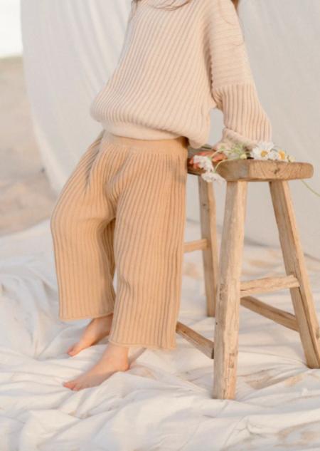 kids Illoura the Label Knit Pants - Caramel