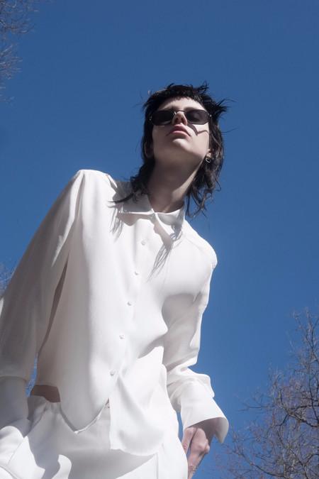 David Michael Collection Ark Blouse White