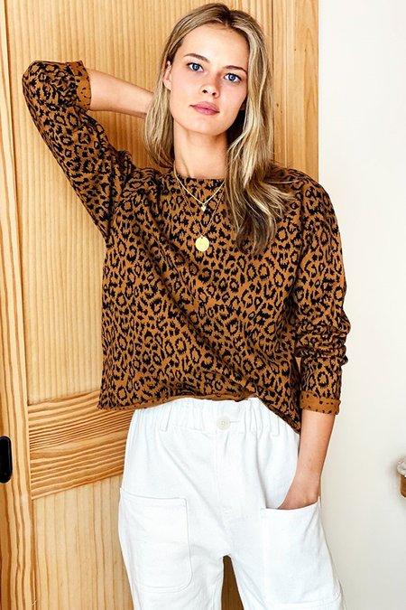 Emerson Fry Raw Edge Raglan sweatshirt - Leopard