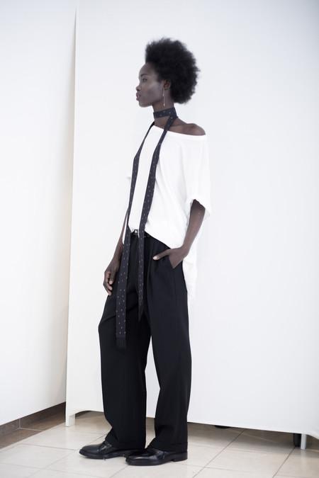Unisex David Michael Collection MEN'S T WHITE