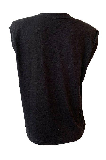 The Range Strata Slub Shoulder Pad Muscle Tee - Black