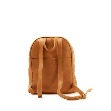 Nimes Bici Leather Backpack - Saddle