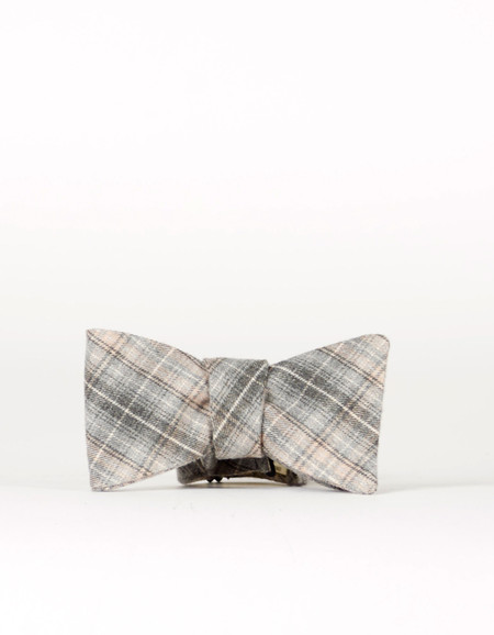 Cursor and Thread Oxford Bow Tie Blue Flannel
