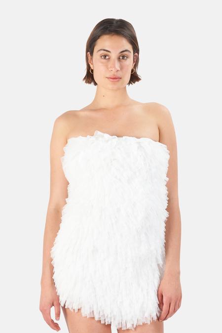 LoveShackFancy Calandre Dress - Antique White