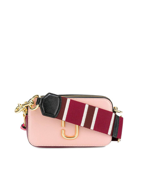 Marc Jacobs Leather Snapshot Bag - pink