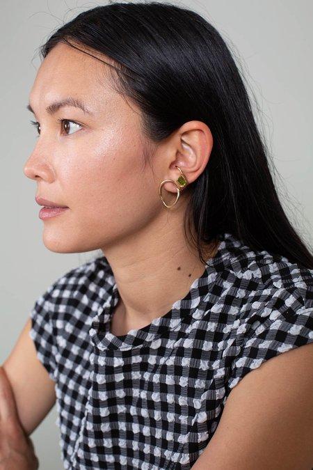 FARIS Cursive Gem Earring