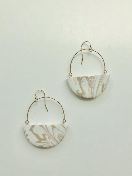 amber e lea Saturn Earrings - Sedona Marble