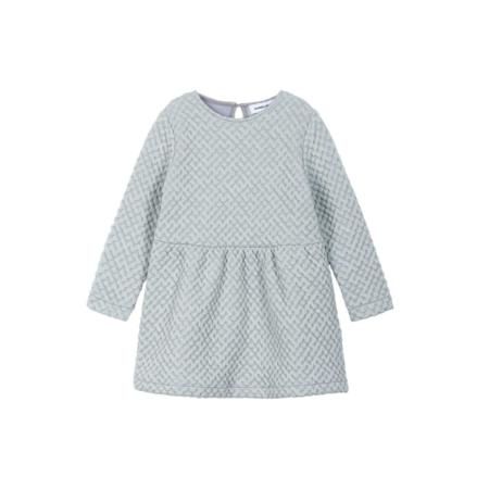 KIDS DIAPERS + MILK Textured Dress - GREY