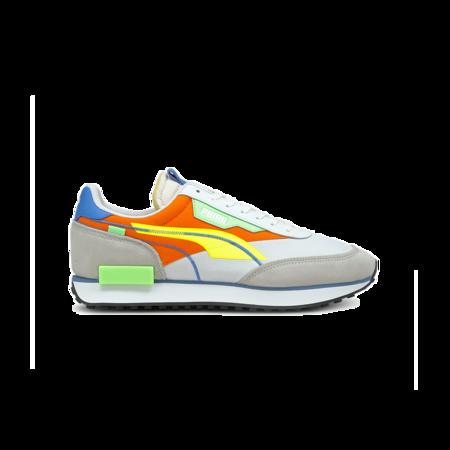 Puma Future Rider Two Fold SD Men 382043-01 sneakers - Pop White/Yellow