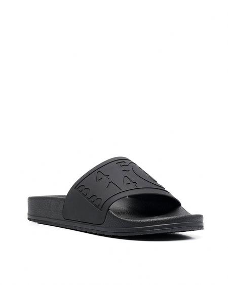 MM6 Maison Margiela Slides with Imprinted Logo - Black