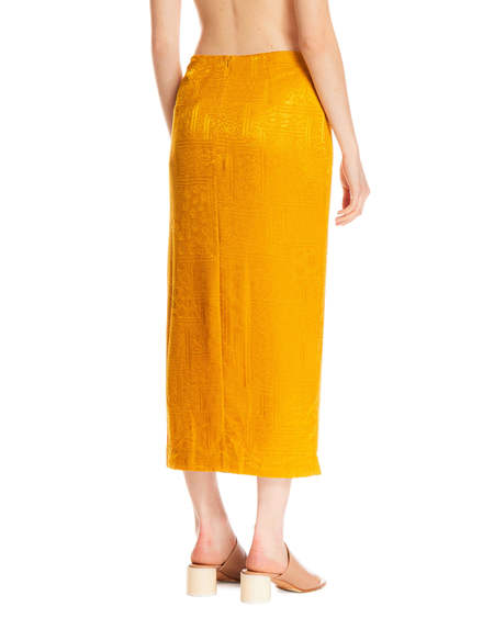 Rotate Caitlin Skirt - Yellow