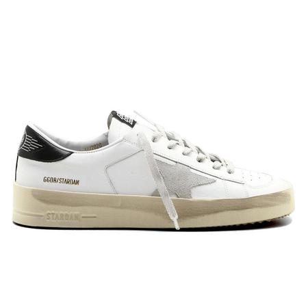 Golden Goose Stardan Leather Upper Suede Star Shiny Leather Heel SNEAKERS - White/Ice/Black