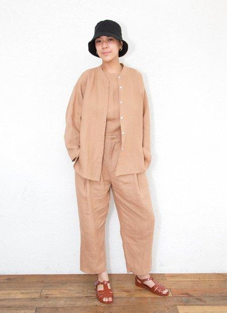 unisex Wholegrain Button-Up Shirt  - Brown Sand