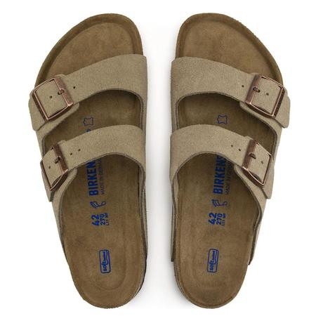Birkenstock Arizona Soft Footbed Suede Leather Regular shoes - Taupe